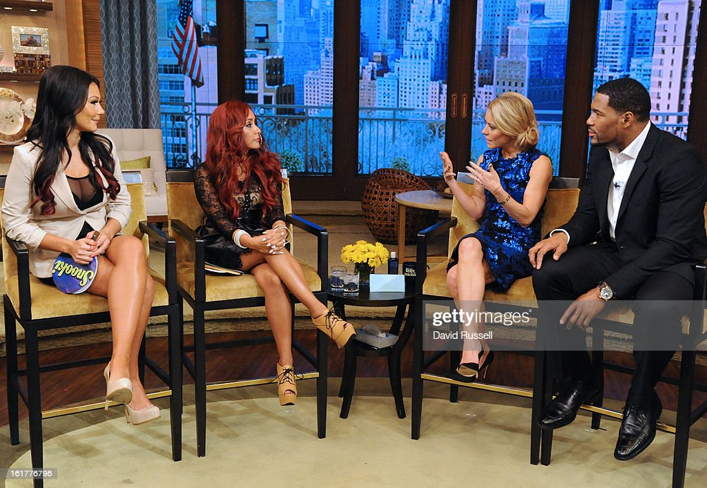 POLIZZI and JENNI ÒJWOWWÓ FARLEY chat about the MTV series ÒSnooki & JWOWWÓ on 'LIVE with Kelly and Michael,' distributed by Disney-ABC Domestic Television.