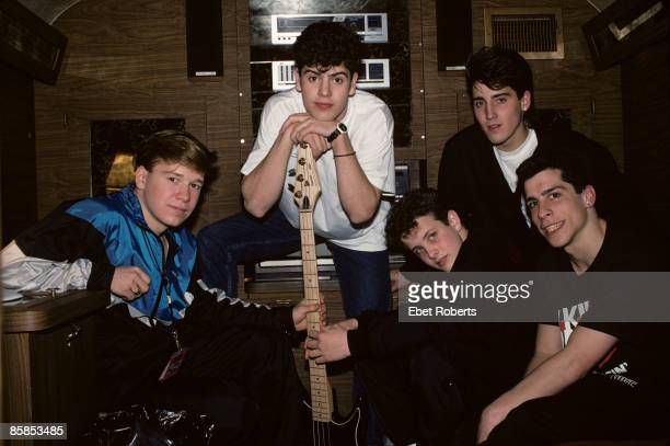 FORGE Photo of NEW KIDS ON THE BLOCK and Jonathan KNIGHT and Donnie WAHLBERG and Jordan KNIGHT and Joey McINTYRE and Danny WOOD Posed group portrait...