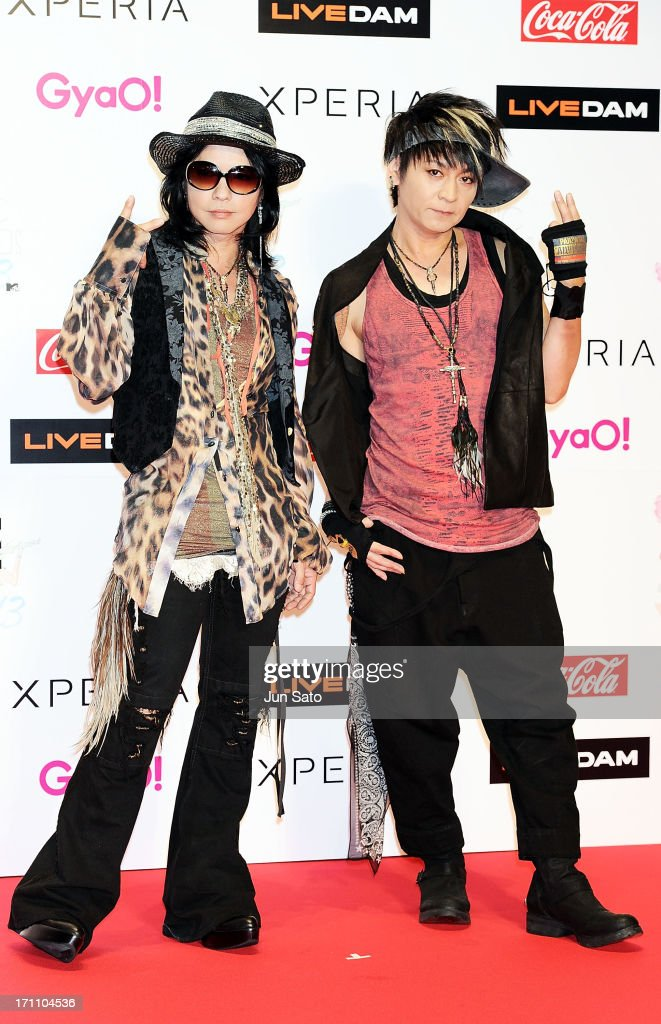 HYDE and K.A.Z of Vamps attend the MTV Video Music Awards Japan 2013 at Makuhari Messe on June 22, 2013 in Chiba, Japan.