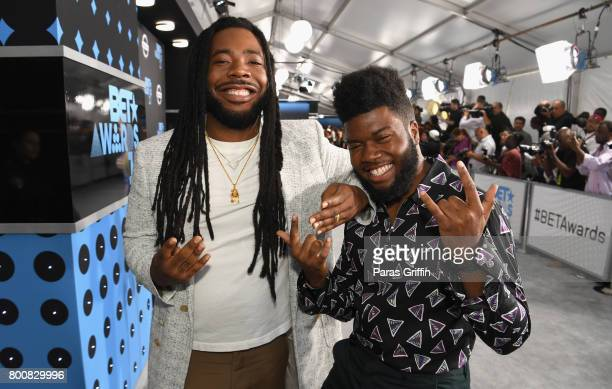 M and Khalid at the 2017 BET Awards at Staples Center on June 25 2017 in Los Angeles California