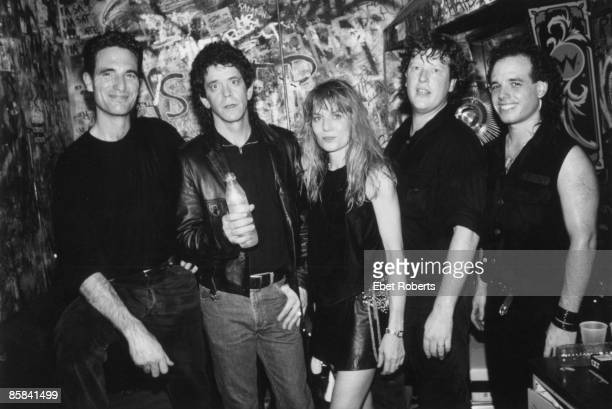 S Photo of TOM TOM CLUB and Lou REED and Mark ROULE and Tina WEYMOUTH and Chris FRANTZ and Gary POZNER LR Mark Roule Lou Reed Tina Weymouth Chris...