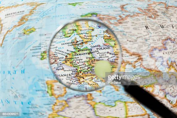 GERMANY and Magnifying glass