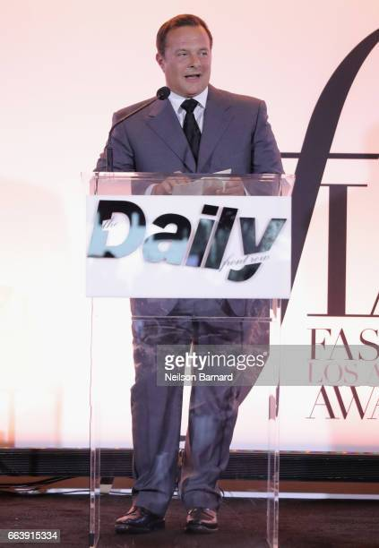 SVP and Managing Director of IMG Models Ivan Bart speaks onstage during the Daily Front Row's 3rd Annual Fashion Los Angeles Awards at Sunset Tower...