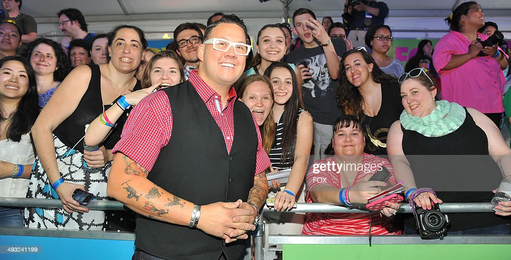 MASTERCHEF and MASTERCHEF JR. JUDGE Graham Elliot during the FOX 2014 FANFRONT event at The Beacon Theatre in NY on Monday, May 12, 2014.