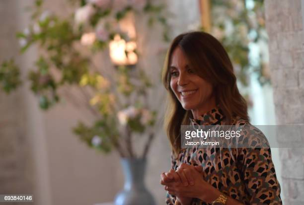 PORTER and MR PORTER President Alison Loehnis speaks during the GOOD Foundation MR PORTER Host Fatherhood Lunch With Jerry Seinfeld at Le Coucou on...