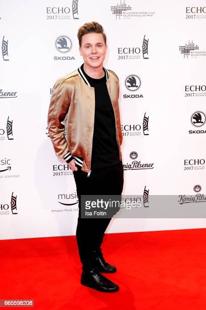 DJ and music producer Felix Jaehn during the Echo award red carpet on April 6 2017 in Berlin Germany