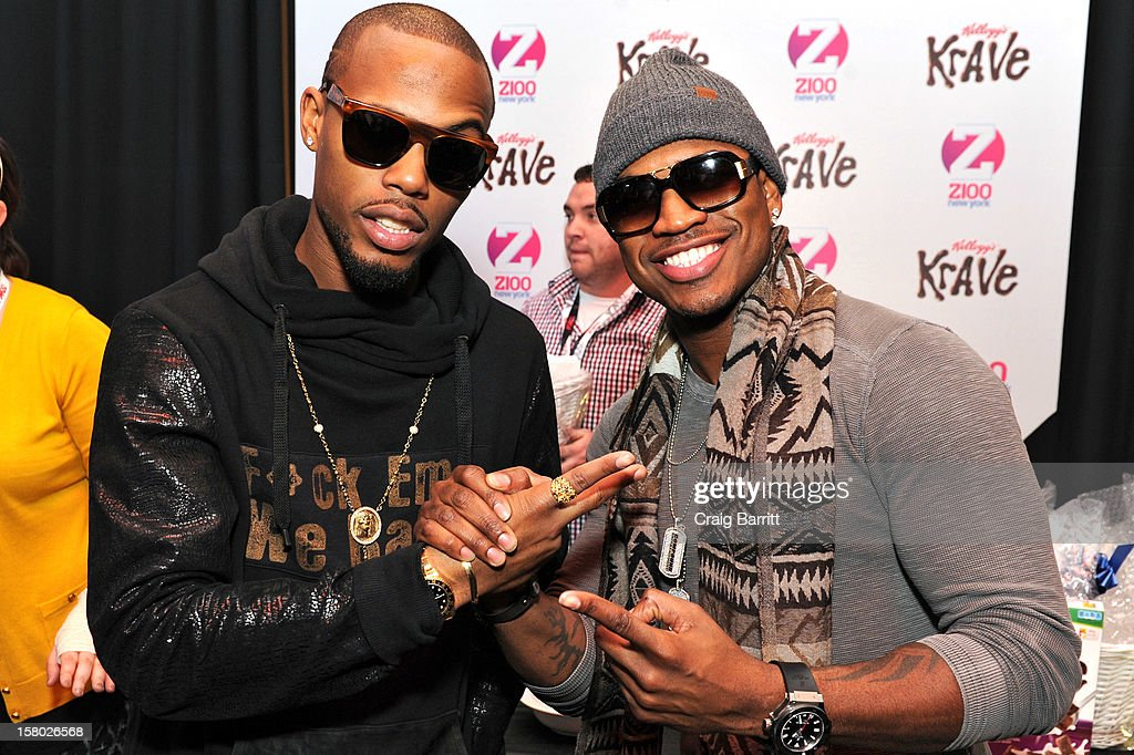 B.O.B and Ne-Yo attend the Z100 Artist Gift Lounge Presented by Pop Tarts at Z100's Jingle Ball 2012 at Madison Square Garden on December 7, 2012 in New York City.