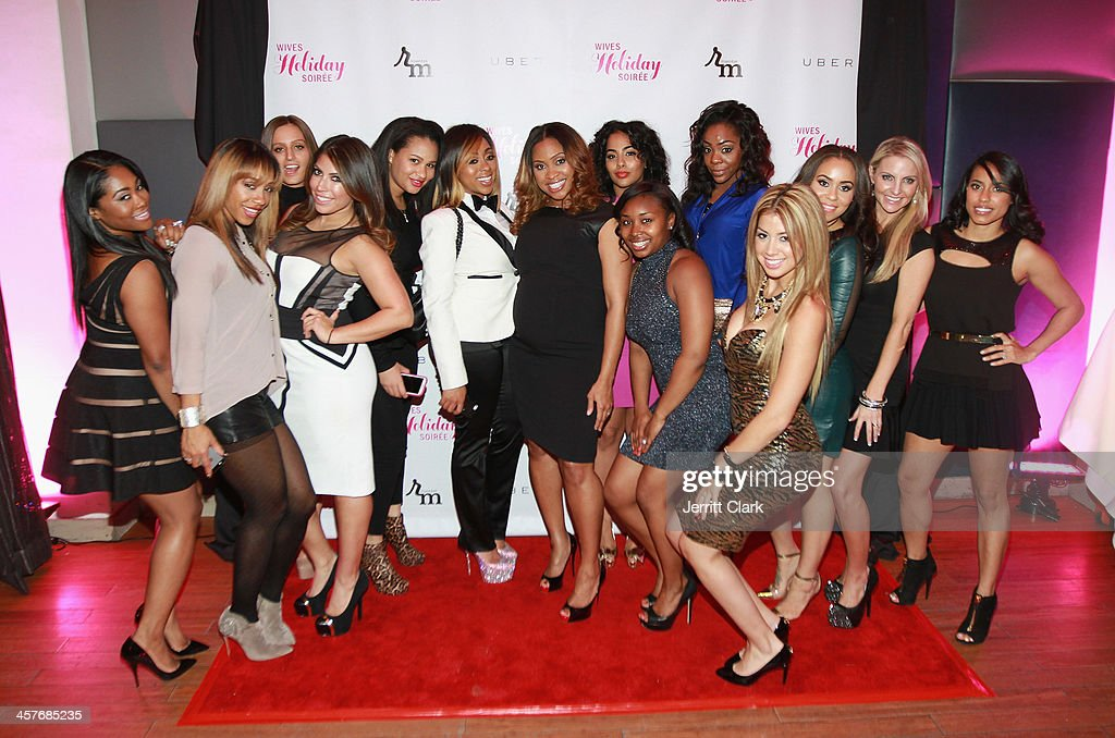 NBA and NFL Wives attend the NBA & NFL Wives Holiday Cocktail Mixer at Pranna Restaurant on December 17, 2013 in New York City.