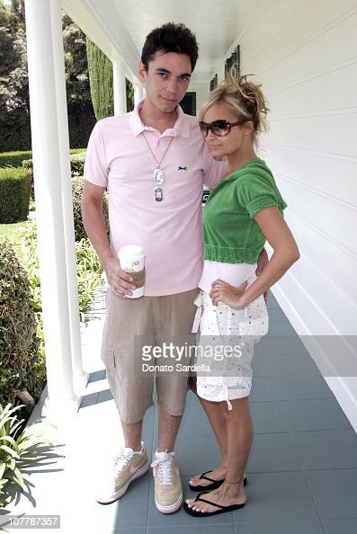 DJ AM and Nicole Richie during Juicy Couture Swimwear Launch at Private Residence in Los Angeles California United States