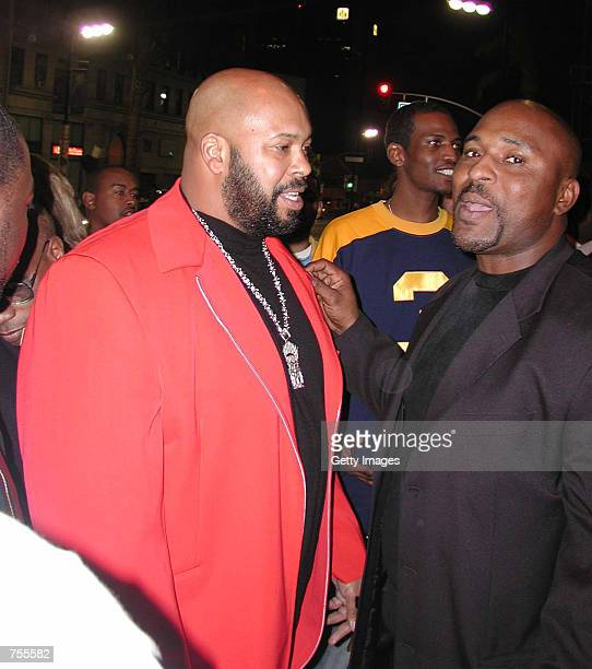CEO and President of Death Row Records Marion 'Suge' Knight attends the 44th Annual Grammy Awards after party at The Deep Club February 27 2002 in...