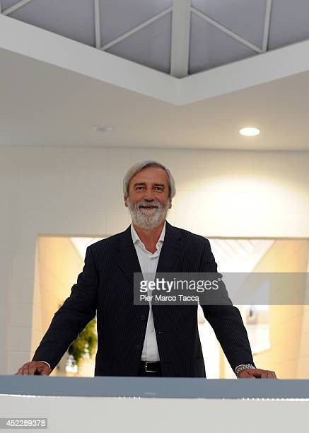 CEO and President of Siemens Italy Federico Golla poses for a photo before the Siemens Italy press conference on July 17 2014 in Milan ItalySiemens...