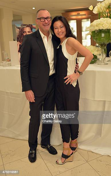 VP and Publisher of Vanity Fair Edward Menicheschi and Vanity Fair Beauty Director SunHee Grinnell attend the beauty luncheon and spa day with...