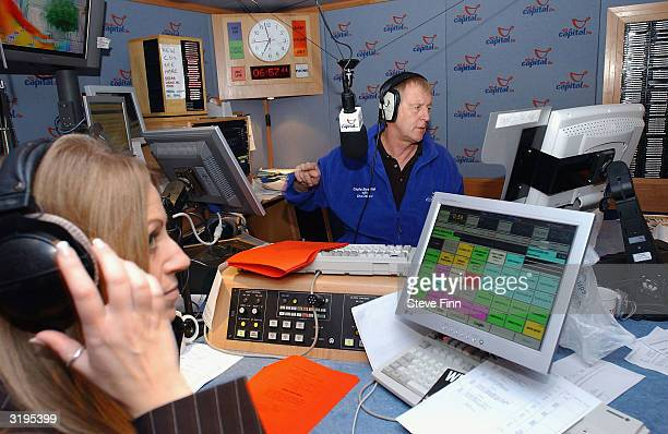 TV and radio presenter Chris Tarrant hosts his final Capital FM breakfast show at their Leicester Square studio on April 2 2004 in London Tarrant has...