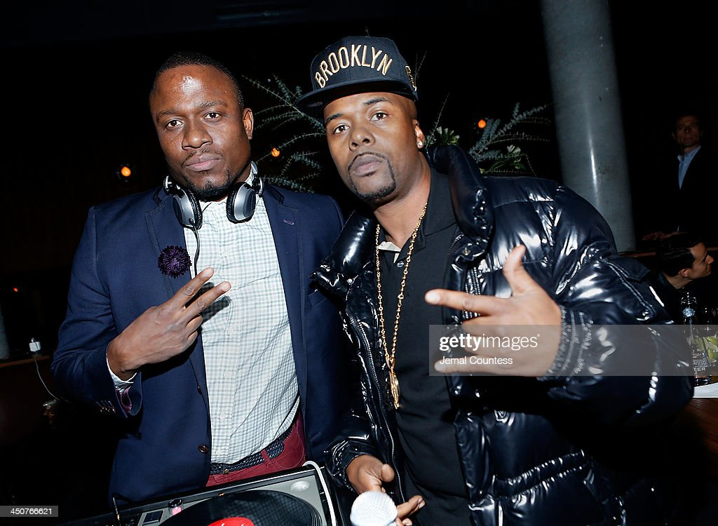 S. and rapper <a gi-track='captionPersonalityLinkClicked' href=/galleries/search?phrase=Memphis+Bleek&family=editorial&specificpeople=214174 ng-click='$event.stopPropagation()'>Memphis Bleek</a> attend the Tequila Baron Launch Party at Butter Restaurant on November 19, 2013 in New York City.