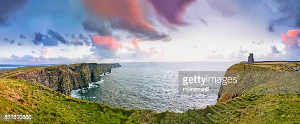 HQ and Res. Panorama of  Cliffs Of Moher and The O'Brien Castle