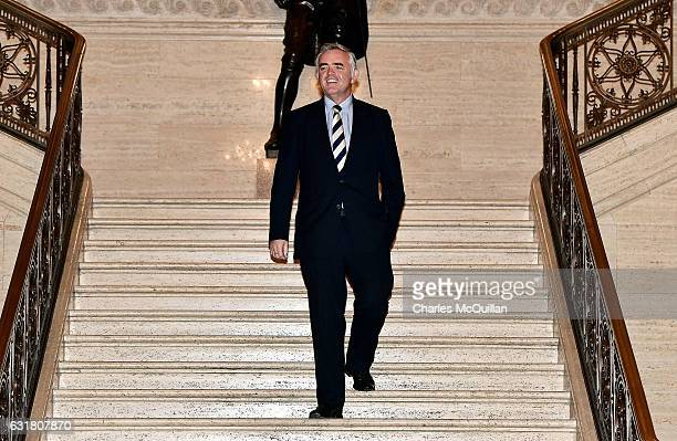DUP and RHI scheme whistleblower Jonathan Bell arriving at the Great Hall at Stormont on January 16 2017 in Belfast Northern Ireland Northern Ireland...