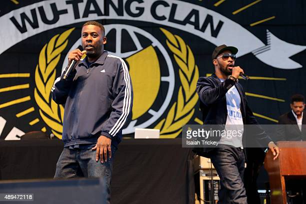 GZA and RZA of WuTang Clan performs on stage during the 2015 Riot Fest at Downsview Park on September 20 2015 in Toronto Canada