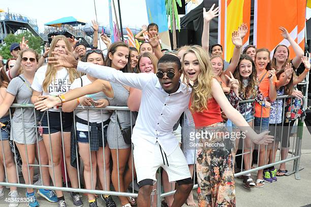 OMI and Sabrina Carpenter Perform At YTV Summer Beach Bash at Canada's Wonderland on August 8 2015 in Vaughan Ontario