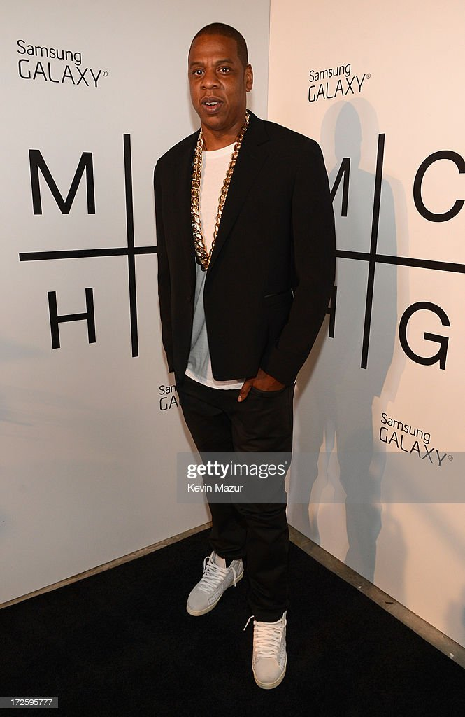 Z and Samsung Mobile's celebration of the Magna Carta Holy Grail album, available now through a customized app in Google Play and Samsung Apps exclusively for Samsung Galaxy S 4, Galaxy S III and Note II users on July 3, 2013 in Brooklyn City.