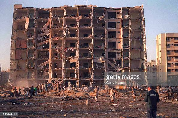 S And Saudi Military Personnel Survey The Damage To Khobar Towers Caused By The Explosion Of A Fuel Truck June 25 1996 Outside A Fence Around The...