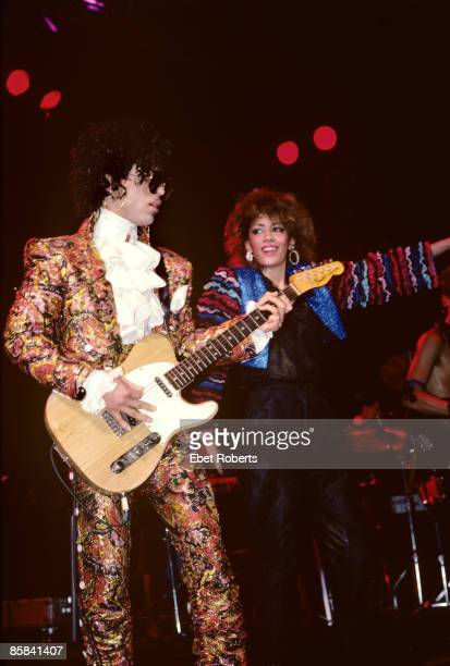 CLUB Photo of PRINCE and SHEILA E Prince and Sheila E performing on stage Purple Rain tour