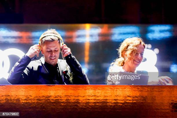 DJ and singer Michi Beck and his wife Ulrike Fleischer as DJ Tean 'Beck to Beck' during the aftershow party during during the 24th Opera Gala at...