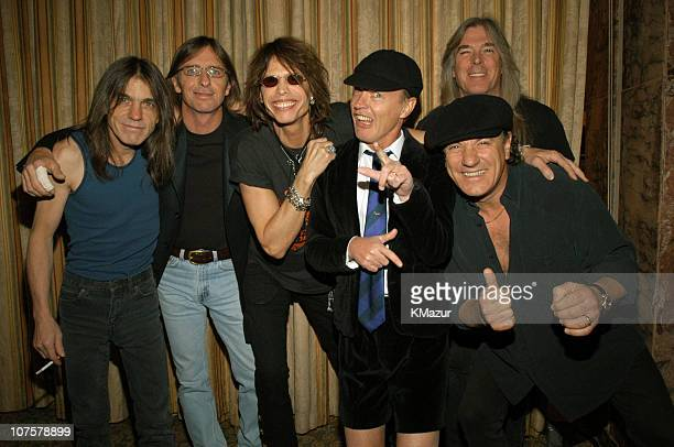AC/DC and Steven Tyler during The 18th Annual Rock and Roll Hall of Fame Induction Ceremony Inside at The Waldorf Astoria in New York City New York...