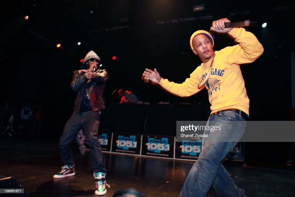 T.I. and Swizz Beatz performs in concert hosted by POWER 105.1 at Best Buy Theater on December 18, 2012 in New York City.