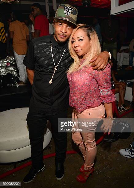 I and Tameka 'Tiny' Harris attend young thugs 25th birthday and PUM Campaign on August 15 2016 in Atlanta Georgia