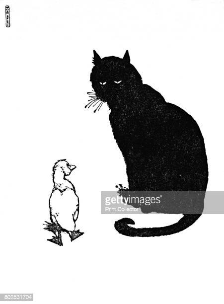 And The Cat Said Can You Purr c1930 An illustration from 'The Ugly Duckling' by Hans Christian Andersen From Hans Andersen's Fairy Tales by Hans...