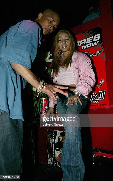 TI and Tiny during Lil' Jon Platinum Party at Ten's April 13 2005 at Ten's in New York City New York United States