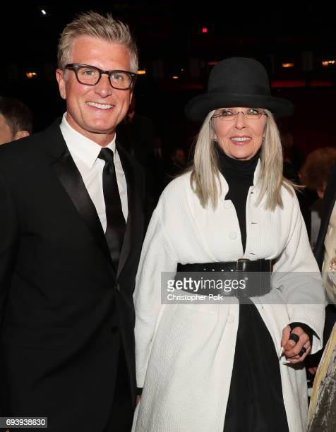 TBS and TNT president and Chief Creative Officer for Turner Entertainment Kevin Reilly and Diane Keaton in the audience during American Film...