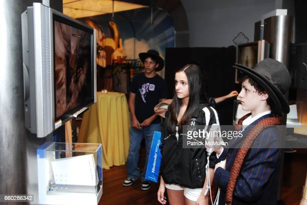 and Trent Kowalik attend PreRelease Party for LucasArts New Videogame INDIANA JONES and The STAFF OF KINGS at Nintendo World Store on June 8 2009 in...