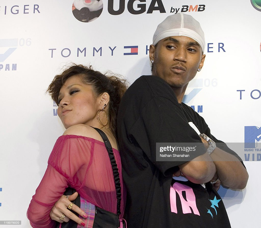 AI and Trey Songz during MTV Video Music Awards Japan 2006 - Press Room at Yoyogi National Stadium in Tokyo, Japan.