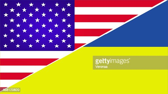 USA and Ukraine flag