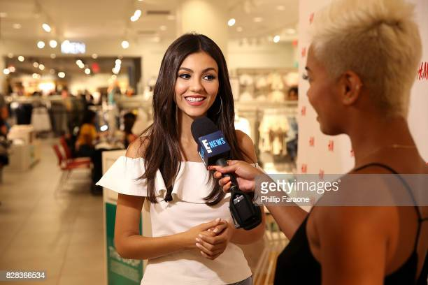 M and Victoria Justice support Girl Up for Back To School at HM on August 9 2017 in Los Angeles California