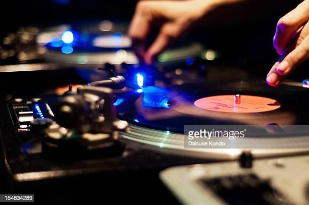 DJ and vinyls