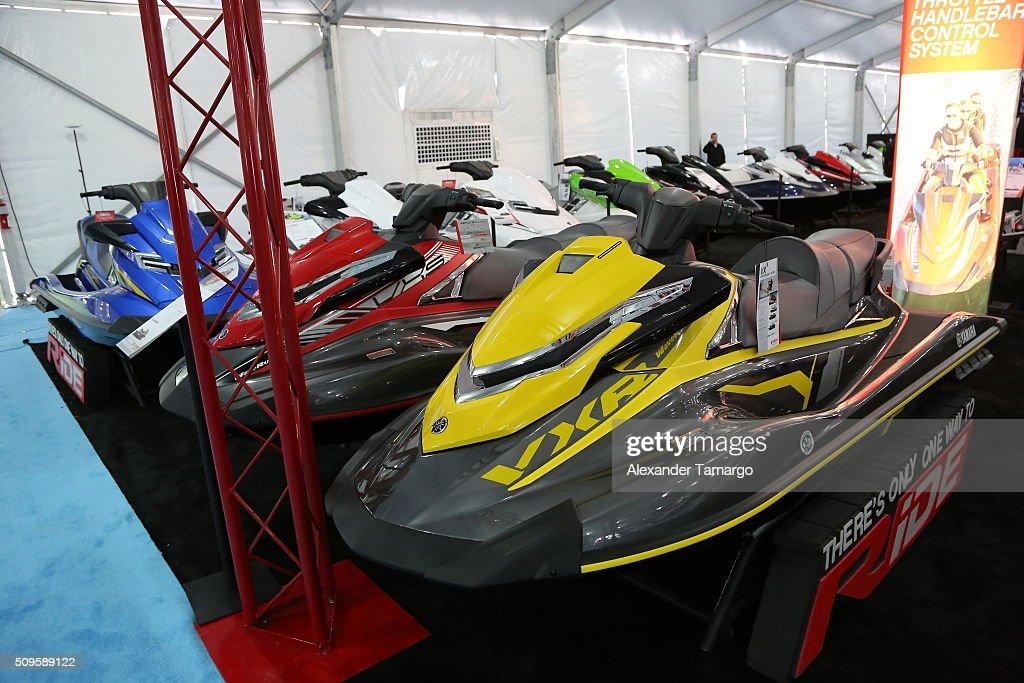 and VXR (R) at the Miami International Boat Show on February 11, 2016 in Miami, Florida.