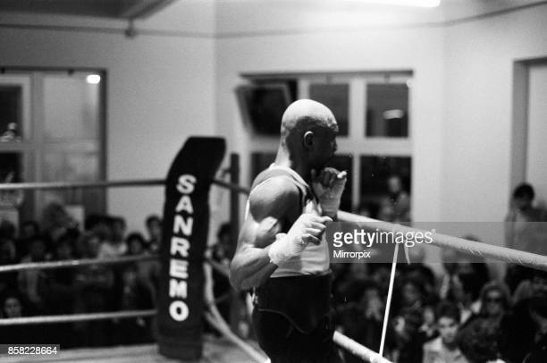 WBC and WBA world champion Marvin Hagler training for his sixth defence of his world titles against Italy's Fulgencio Obelmejias 28th October 1982