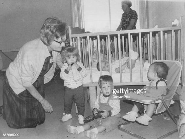 And while mother is learning the children are under the care of Mrs Loretta Smith 265 S Yuma St The children are from left Tracy Pegg daughter of Mr...