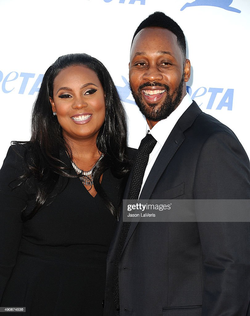 and wife Talani Rabb attend PETA's 35th anniversary party at Hollywood Palladium on September 30 2015 in Los Angeles California