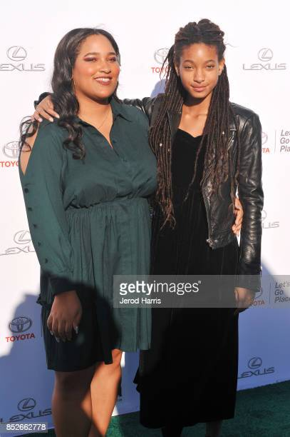 and Willow Smith at the Environmental Media Association's 27th Annual EMA Awards at Barkar Hangar on September 23 2017 in Santa Monica California