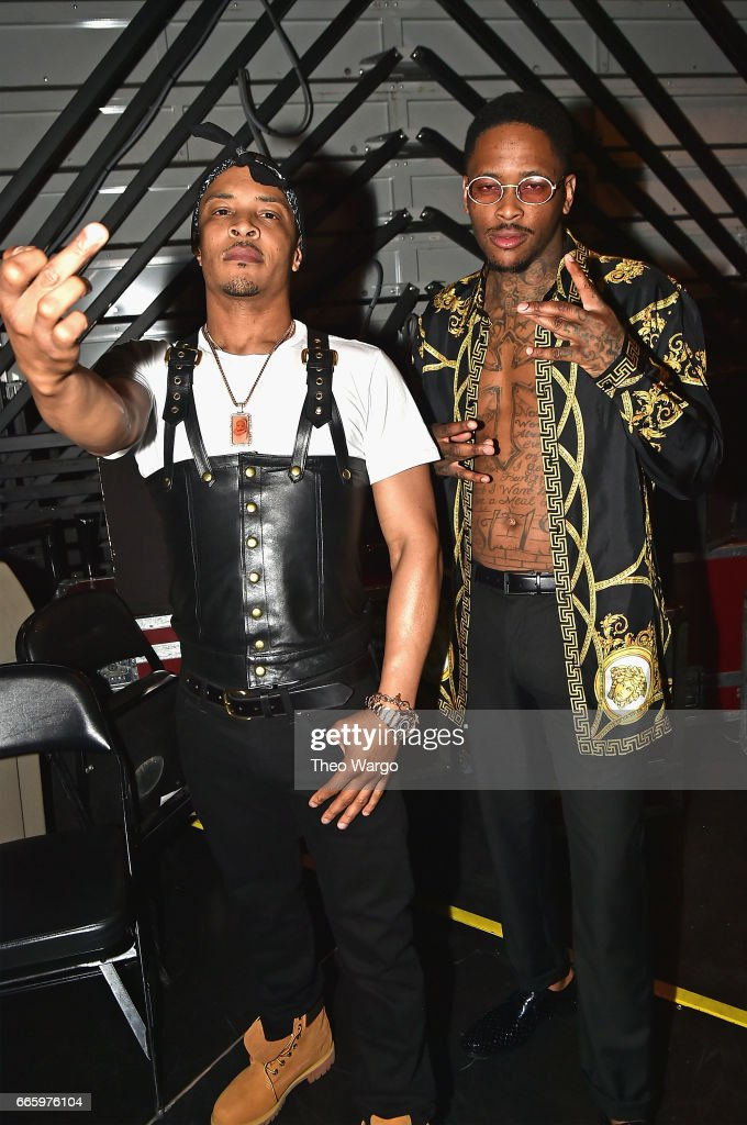 T.I. and YG pose backstage at the 32nd Annual Rock & Roll Hall Of Fame Induction Ceremony at Barclays Center on April 7, 2017 in New York City. Debuting on HBO Saturday, April 29, 2017 at 8:00 pm ET/PT