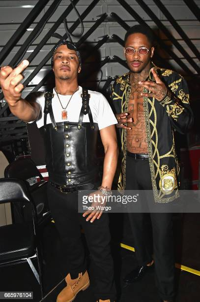 I and YG pose backstage at the 32nd Annual Rock Roll Hall Of Fame Induction Ceremony at Barclays Center on April 7 2017 in New York City Debuting on...