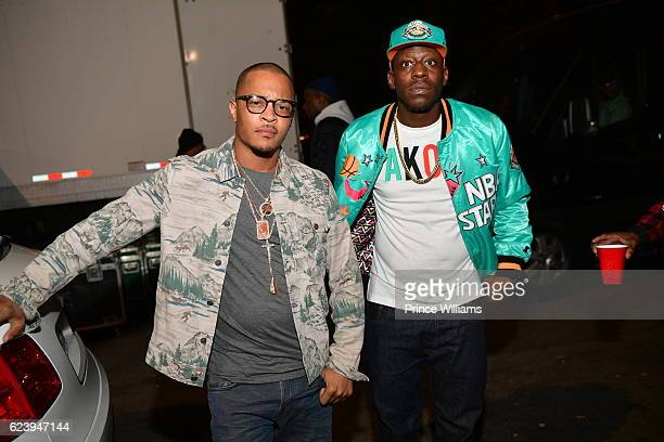 I and Young Dro Backstage at the PartyNextDoor and Jeremih Summer's Over Tour at The Tabernacle on November 14 2016 in Atlanta Georgia