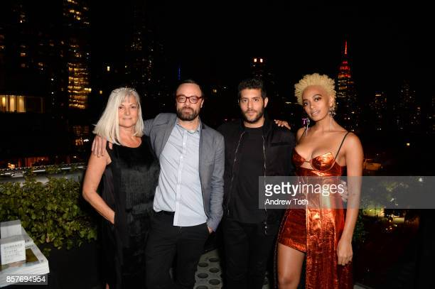 Anda Andrei Nate Storey Marc Lotenberg and Solange Knowles attend The 2017 Surface Travel Awards at Hotel Americano on October 4 2017 in New York City