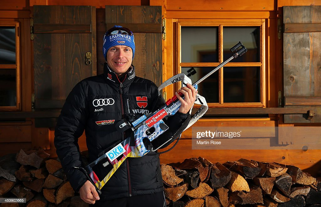 Andeas Birnbacher of Germany poses during a photocall at Hotel Unterlechner on December 5, 2013 in St.Johann in Haus, Austria.