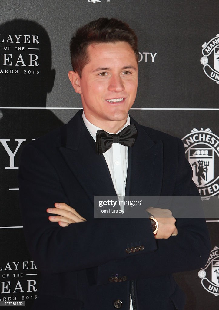 Ander Herrera of Manchester United arrives at the club's annual Player of the Year awards at Old Trafford on May 2, 2016 in Manchester, England.