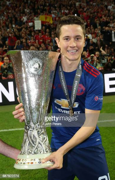 Ander Herrera of Manchester United celebrates with the Europa League trophy after the UEFA Europa League Final match between Manchester United and...