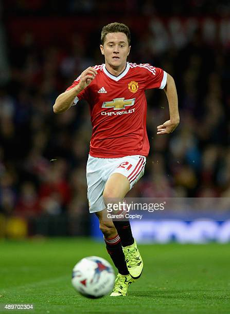 Ander Herrera of Manchester United during the Capital One Cup Third Round match between Manchester United and Ipswich Town at Old Trafford on...